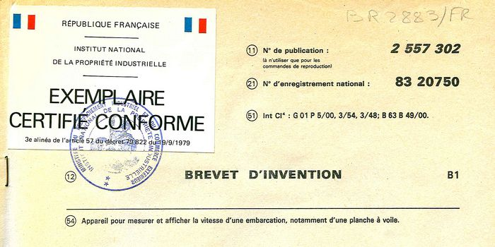 Brevet d'invention du 22 décembre 1983 - France