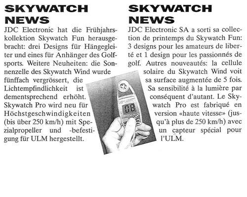 1992 Swiss Glider Skywatch News
