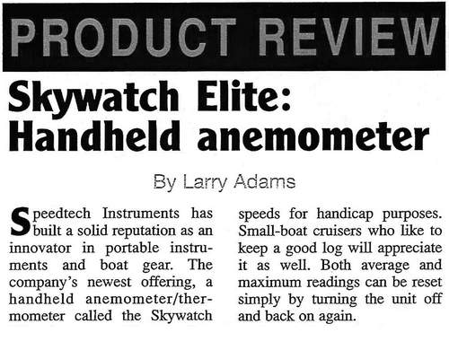 1998 Skywatch Elite Handheld anemometer